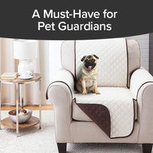 Load image into Gallery viewer, Couch Coat Chair on chair with dog sitting on it. Headline says A Must Have For Pet Guardians