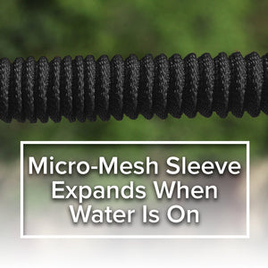 Pocket Hose Brass Bullet 2-Pack showing close up of mirco-mesh sleeve