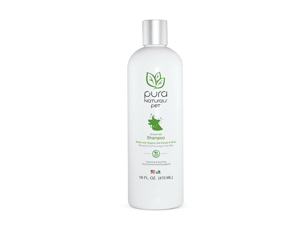 Pura Naturals Pet Nourishing Oatmeal & Aloe Shampoo isolated on white background