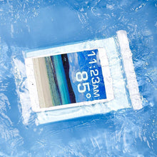 Load image into Gallery viewer, A tablet inside a Tech Candy Dry Spell Tablet Case submerged in water