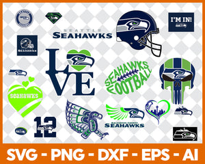 Seattle Seahawks SVG,SVG Files For Silhouette, Files For Cricut, SVG, DXF, EPS, PNG Instant Download