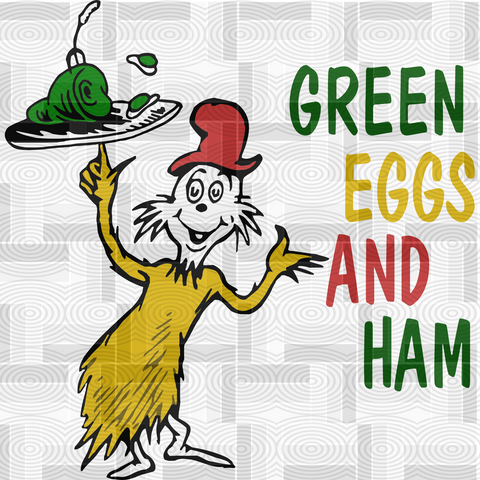 green eggs and ham svg, dr seuss, Dr Seuss SVG , dxf, Cricut, Silhouette Cut File, Instant Download