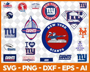 New York Giants SVG,SVG Files For Silhouette, Files For Cricut, SVG, DXF, EPS, PNG Instant Download