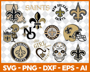 New Orleans Saints SVG,SVG Files For Silhouette, Files For Cricut, SVG, DXF, EPS, PNG Instant Download