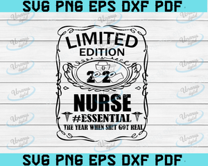 Limited edition Nurse 2020  Svg and Png Digital download