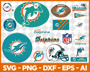 Miami Dolphins SVG,SVG Files For Silhouette, Files For Cricut, SVG, DXF, EPS, PNG Instant Download