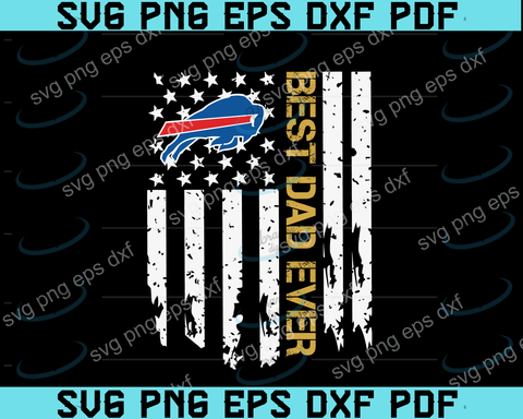 Buffalo Bills Best Dad Ever American Flag svg,Buffalo Bills Best Dad svg, Buffalo Bills svg,father's day svg,png ,eps,dxf,pdf file