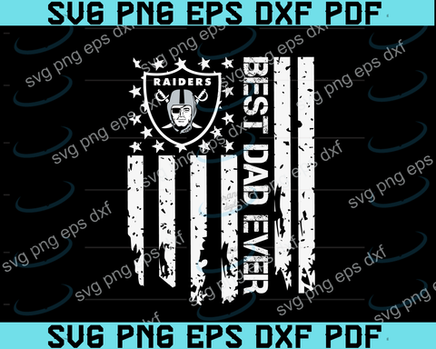 Oakland Raiders Best Dad Ever American Flag svg,Oakland Raiders Best Dad svg,Oakland Raiders dad svg,father's day svg,png ,eps,dxf,pdf file