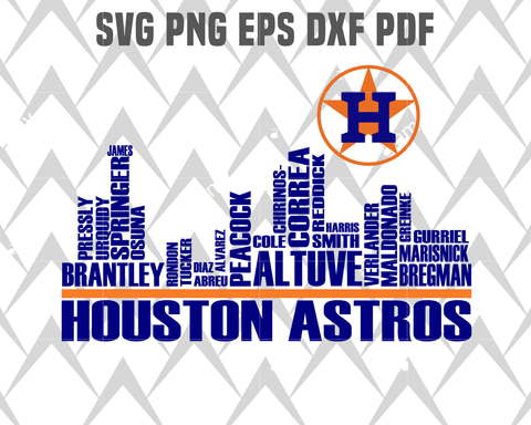 Houston astros SVG,SVG Files For Silhouette, Files For Cricut, SVG, DXF, EPS, PNG Instant Download