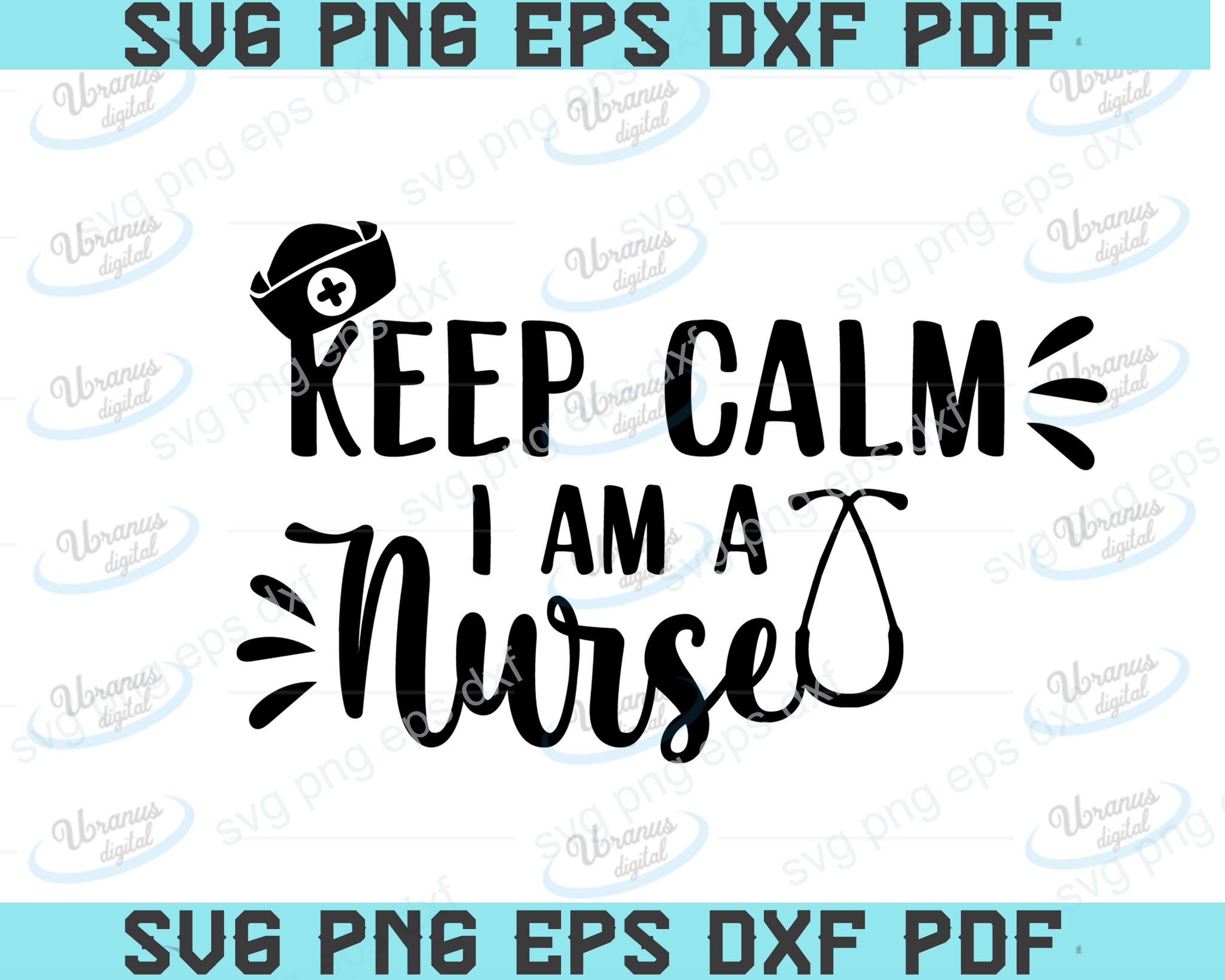 Keep calm i am a nurse SVG,SVG Files For Silhouette, Files For Cricut, SVG, DXF, EPS, PNG Instant Download