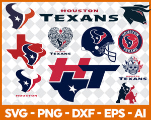 Houston Texans SVG,SVG Files For Silhouette, Files For Cricut, SVG, DXF, EPS, PNG Instant Download