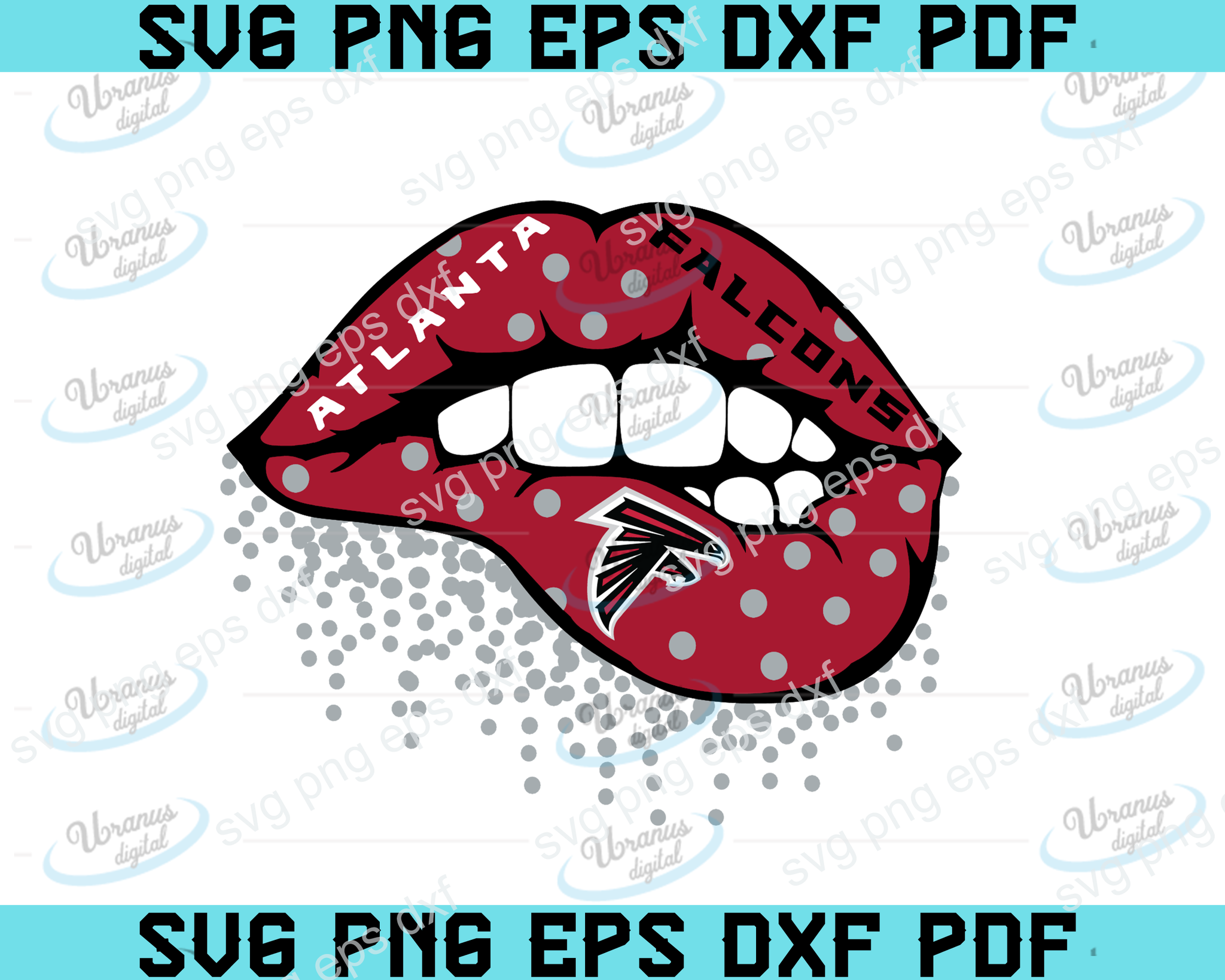Atlanta Falcons  lips SVG,SVG Files For Silhouette, Files For Cricut, SVG, DXF, EPS, PNG Instant Download