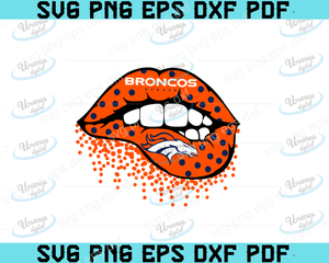 Denver Broncos lips SVG,SVG Files For Silhouette, Files For Cricut, SVG, DXF, EPS, PNG Instant Download