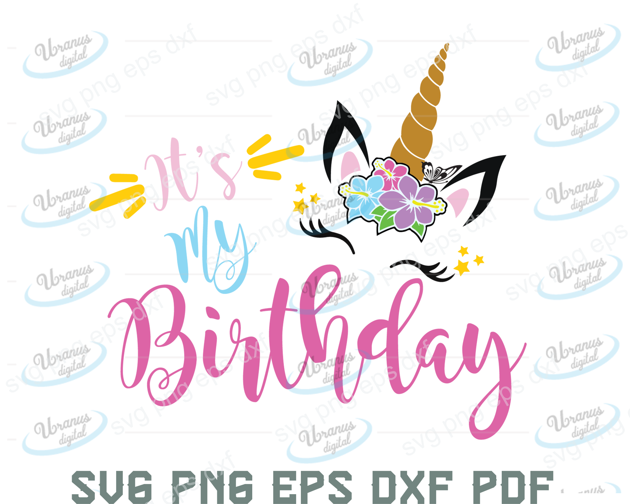 It's my birthday SVG,SVG Files For Silhouette, Files For Cricut, SVG, DXF, EPS, PNG Instant Download
