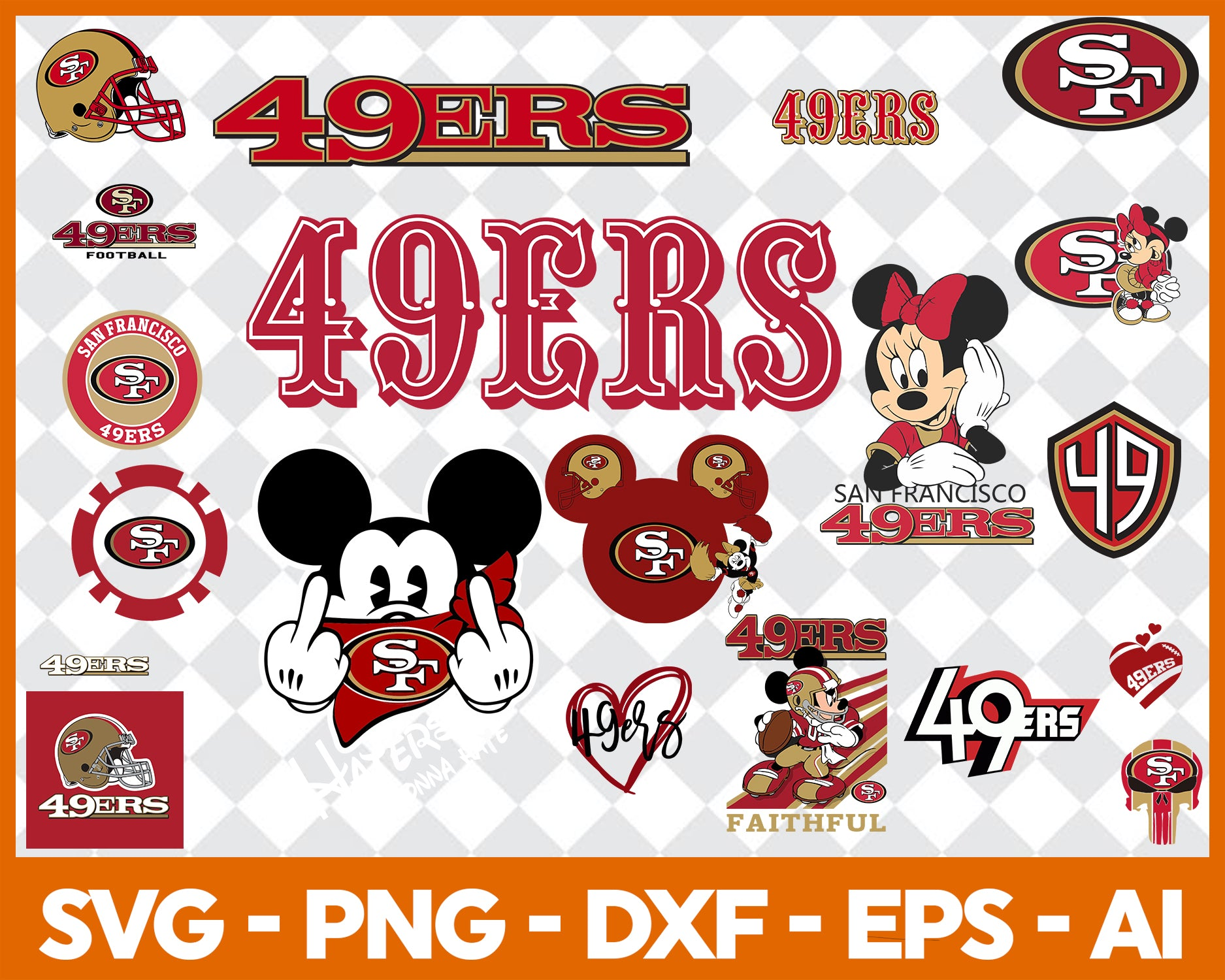 San Francisco 49ers Svg Svg Files For Silhouette Files For Cricut Sv Uranusdigital