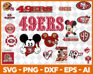San Francisco 49ers SVG,SVG Files For Silhouette, Files For Cricut, SVG, DXF, EPS, PNG Instant Download