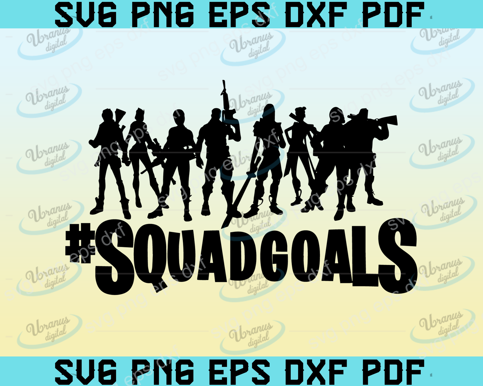 Squad goals SVG,SVG Files For Silhouette, Files For Cricut, SVG, DXF, EPS, PNG Instant Download