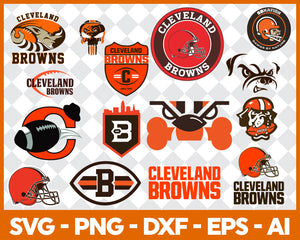 Cleveland Browns SVG,SVG Files For Silhouette, Files For Cricut, SVG, DXF, EPS, PNG Instant Download