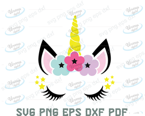 Unicorn SVG,SVG Files For Silhouette, Files For Cricut, SVG, DXF, EPS, PNG Instant Download