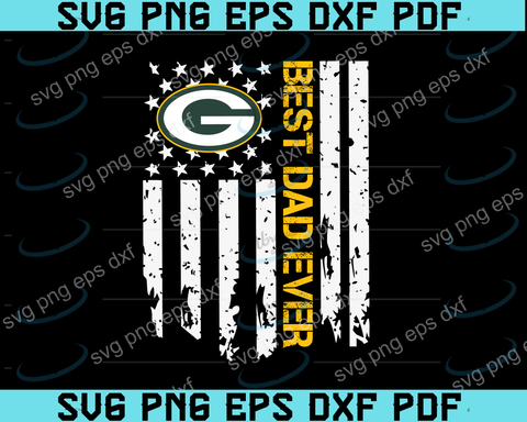 green bay packers Best Dad Ever American Flag svg,green bay packers Best Dad svg,green bay packers dad svg,father's day svg,png ,eps,dxf,pdf file