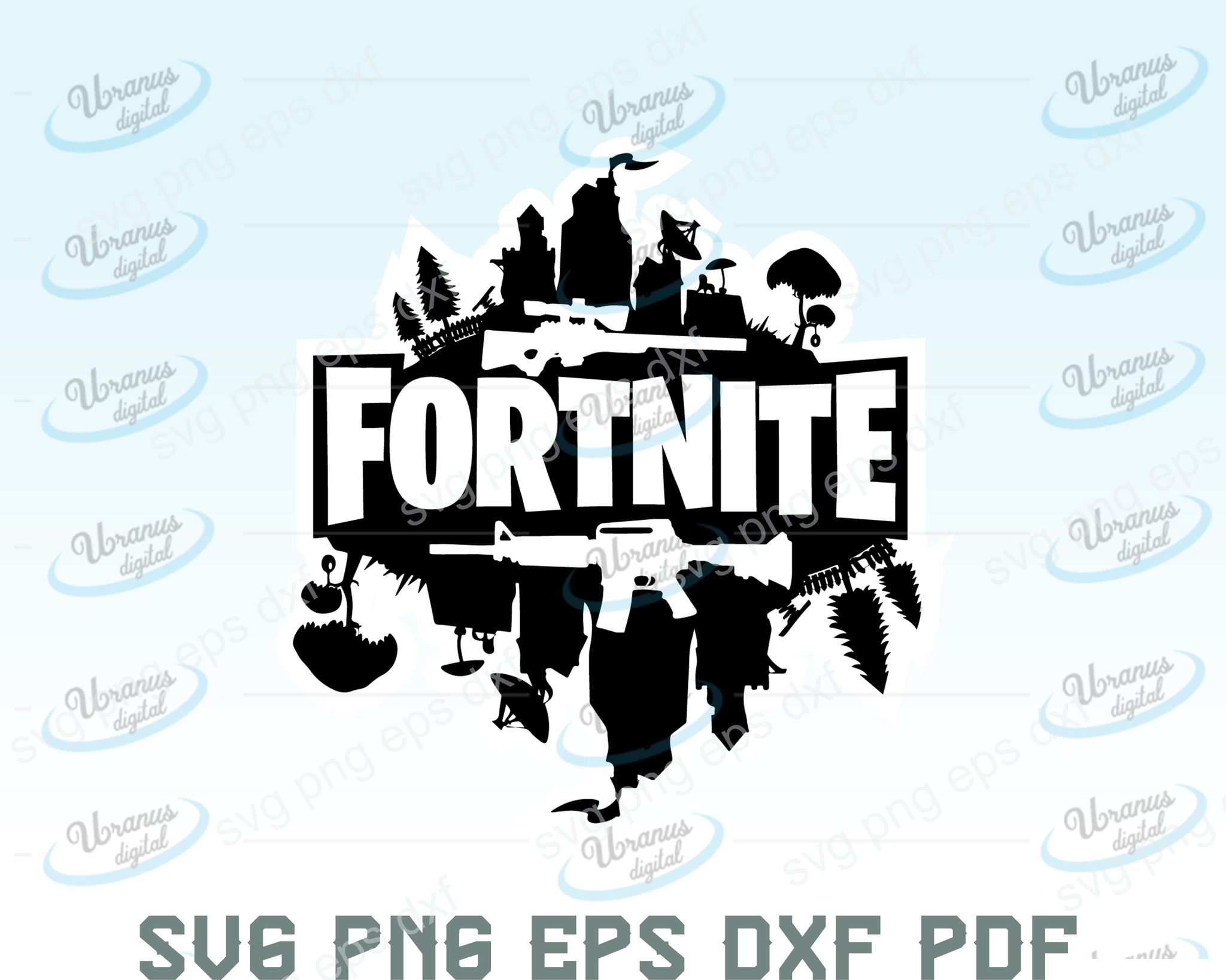 Fortnite SVG,SVG Files For Silhouette, Files For Cricut, SVG, DXF, EPS, PNG Instant Download