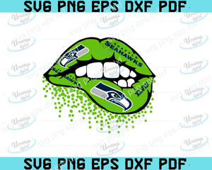 Seattle Seahawks lips SVG,SVG Files For Silhouette, Files For Cricut, SVG, DXF, EPS, PNG Instant Download