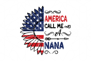 America nana SVG,SVG Files For Silhouette, Files For Cricut, SVG, DXF, EPS, PNG Instant Download