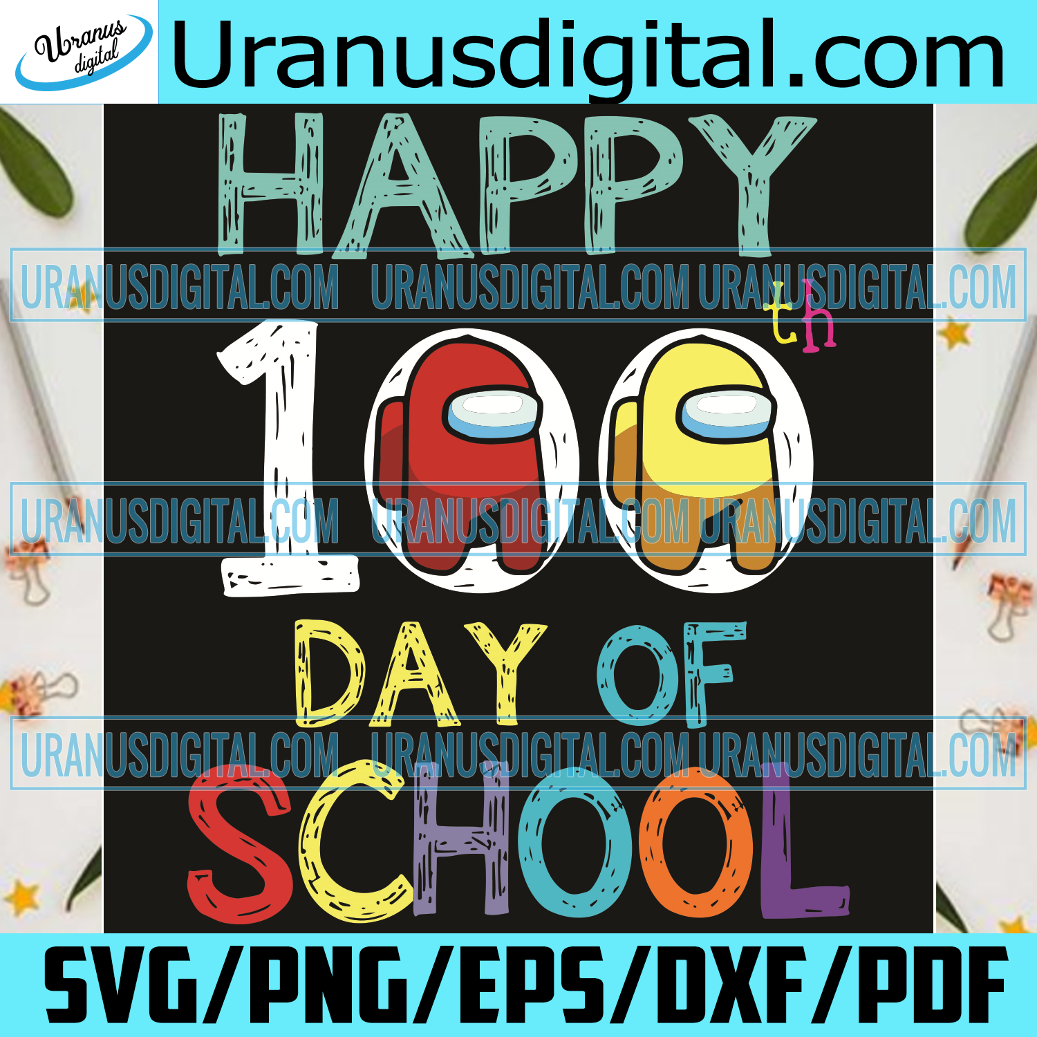 Happy 100th Day Of School Impostors Among Us Svg, Trending Svg, 100 Days Of School Svg, Among Us Svg, Impostors Svg, Crewmate Svg, Game Svg, School Svg, Student Svg, Quarantined Svg, 100th Day Of School Svg, School Gifts Svg