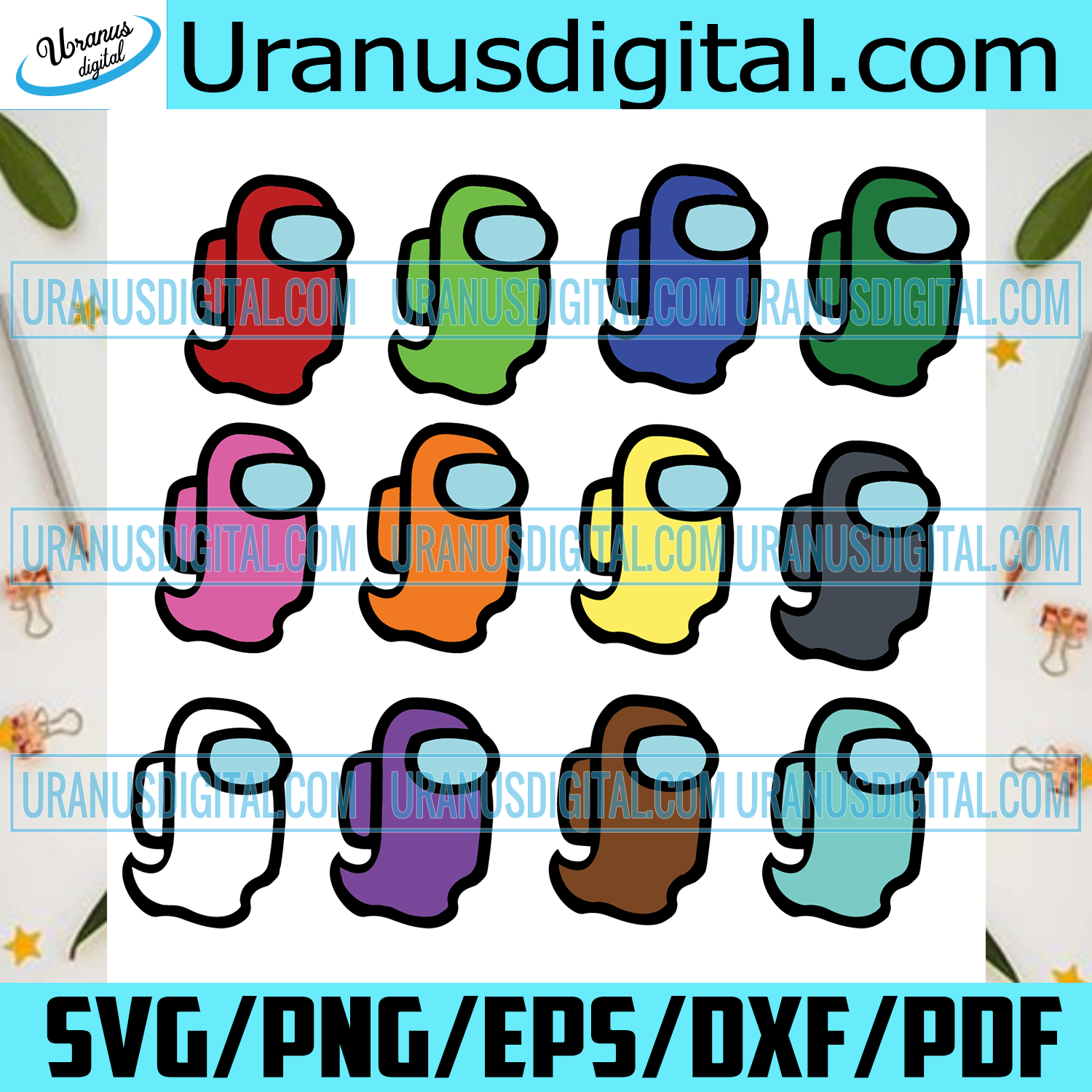 Among Us Halloween Ghost Bundle Trending Svg Cute Ghost Svg Among U Uranusdigital