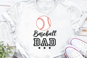 Baseball Dad Svg Files, Baseball Svg. Printable Cut files for Cricut and Silhouette. Digital Download Iron On Vinyl Design T Shirt Saying.