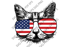 Cat US SVG,SVG Files For Silhouette, Files For Cricut, SVG, DXF, EPS, PNG Instant Download