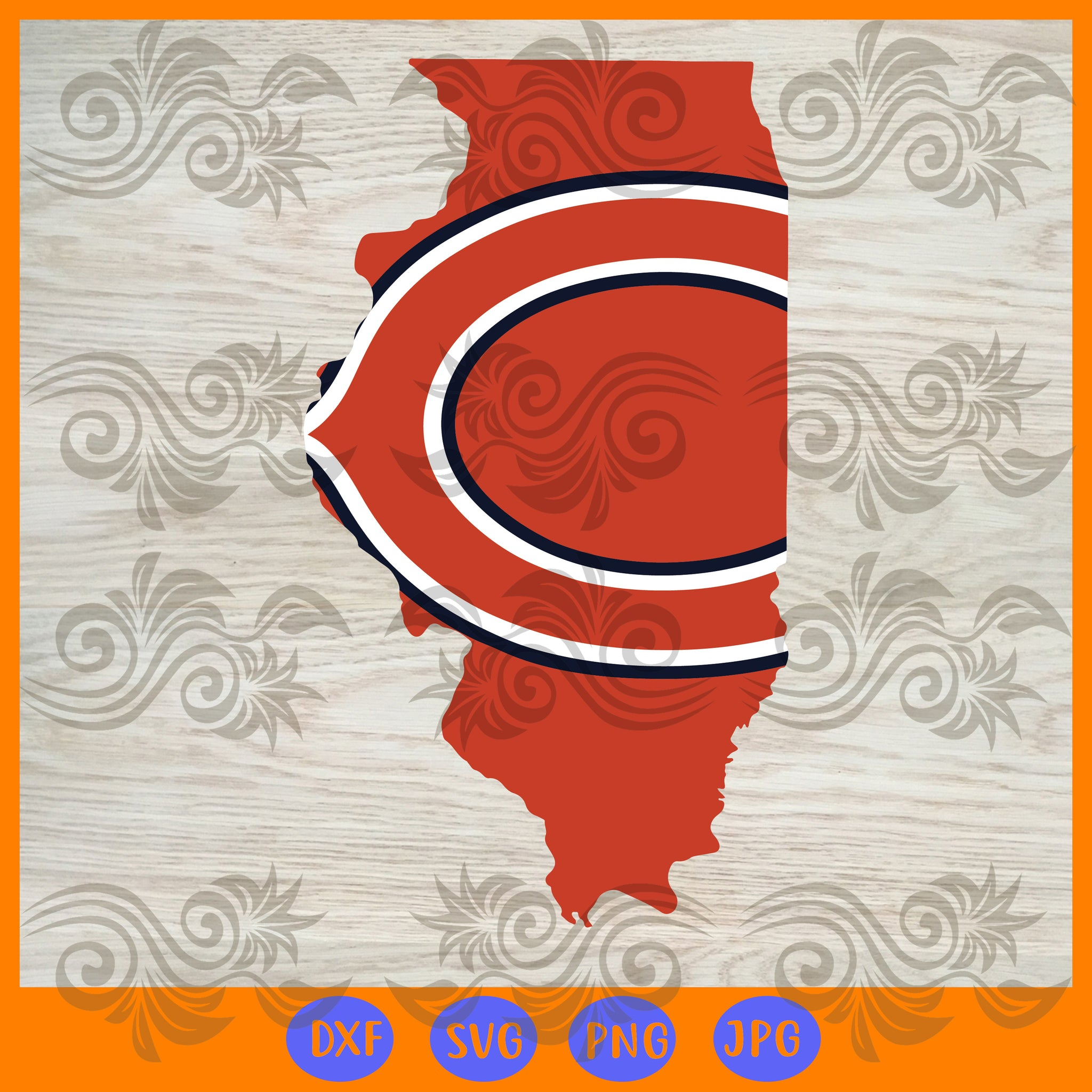 Chicago Bears SVG,SVG Files For Silhouette, Files For Cricut, SVG, DXF, EPS, PNG Instant Download