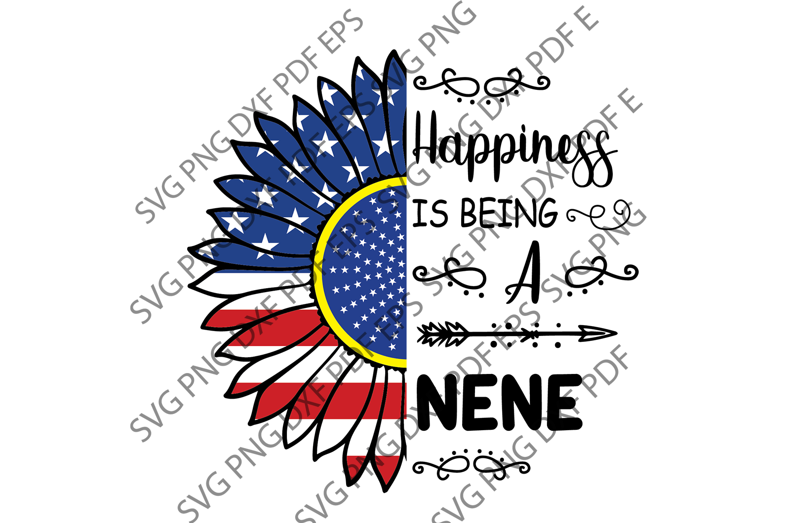 Happiness being nene SVG,SVG Files For Silhouette, Files For Cricut, SVG, DXF, EPS, PNG Instant Download