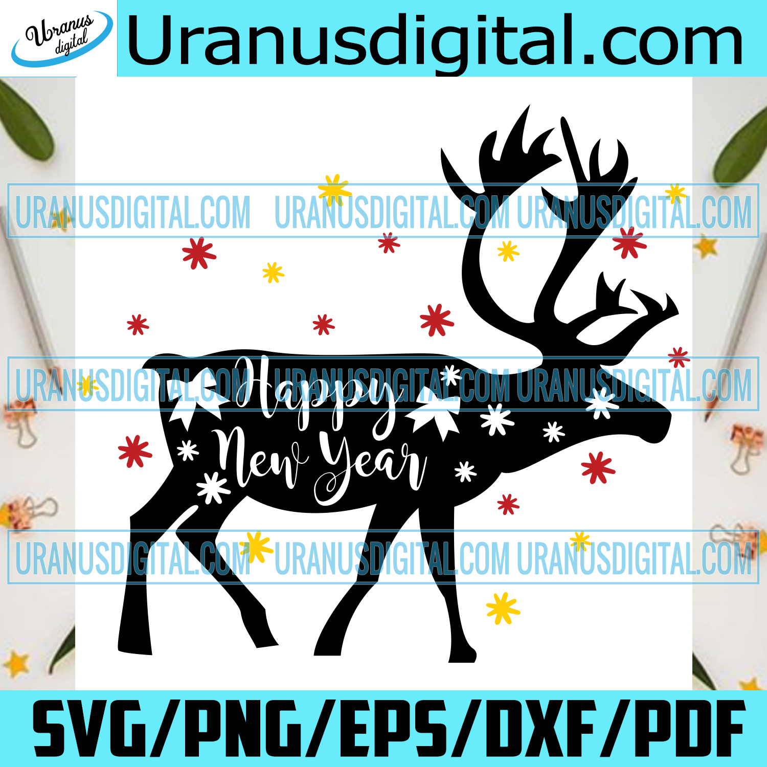Happy New Year, Christmas Svg, Reindeer Svg, Reindeer Shirt, Reindeer Gift, Love Reindeer, Christmas Reindeer, Christmas Gift Box, Christmas Bell Svg, Christmas Gift, Claus Svg, Love Claus, Noel Svg, Christmas Icon