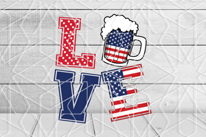 Love beer SVG,SVG Files For Silhouette, Files For Cricut, SVG, DXF, EPS, PNG Instant Download