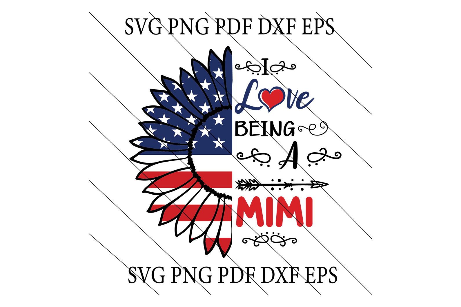 Love mimi SVG,SVG Files For Silhouette, Files For Cricut, SVG, DXF, EPS, PNG Instant Download