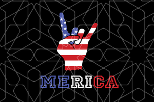 Merica  SVG,SVG Files For Silhouette, Files For Cricut, SVG, DXF, EPS, PNG Instant Download