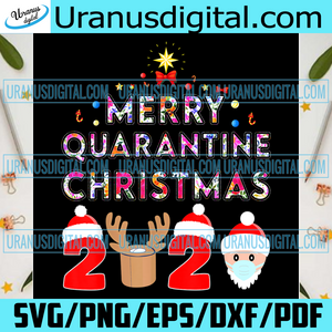 Merry Quarantine Christmas 2020 Png, Christmas Png, Xmas Png, Christmas Gift, Merry Christmas, 2020 Christmas, Quarantine Png, Quarantine Christmas, 2020 Face Mask, Santa Png, Reindeer, Toilet Paper