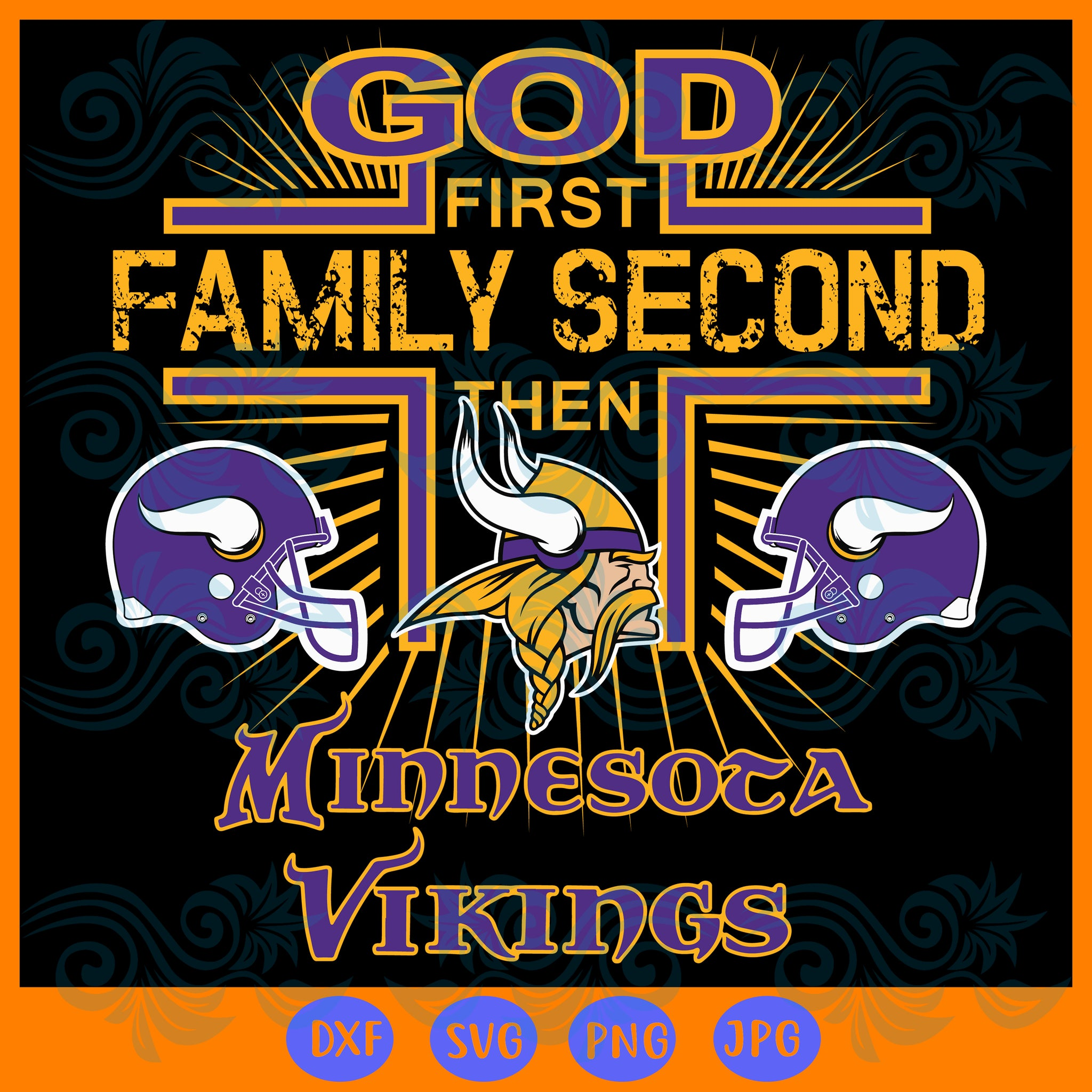 Minnesota Vikings SVG,SVG Files For Silhouette, Files For Cricut, SVG, DXF, EPS, PNG Instant Download