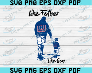 Like father like son,New York Giants,NFL svg,fathers day svg,fathers day gift,happy fathers day,football,New York Giants football