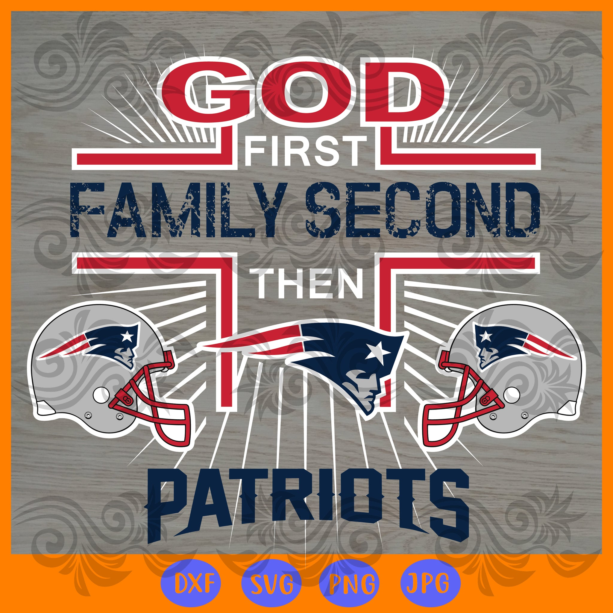 New England Patriots SVG,SVG Files For Silhouette, Files For Cricut, SVG, DXF, EPS, PNG Instant Download