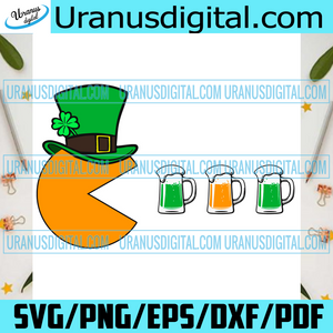 Pac Beer Patrick Day Funny Svg, Patrick Svg, Svg, Pac Man Svg, Pac Man Beer Svg, Pac Beer Svg, Beers Svg, Pac Patrick Hat Svg, Shamrocks, Patrick Hat Svg, Patrick Gifts Svg, Patrick Party Svg, Patrick Day Svg, Patrick Shirt