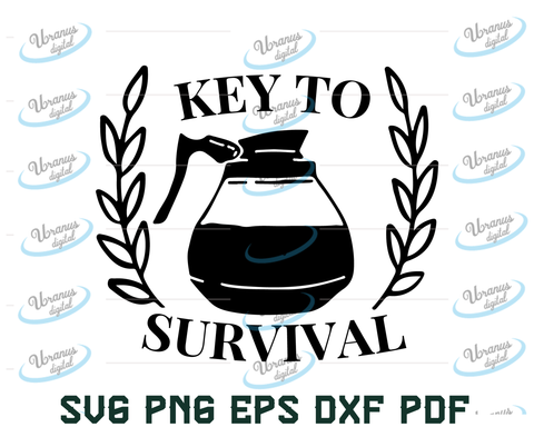 Key To Survival Svg.Dxf.Eps.Png