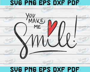 Smile Svg, DXF, PNG, Hand Lettered Svg, Cricut and Silhouette, Smile Cut File, Smile Clip Art, Instant Download, Clip Art Svg, Quote Svg.