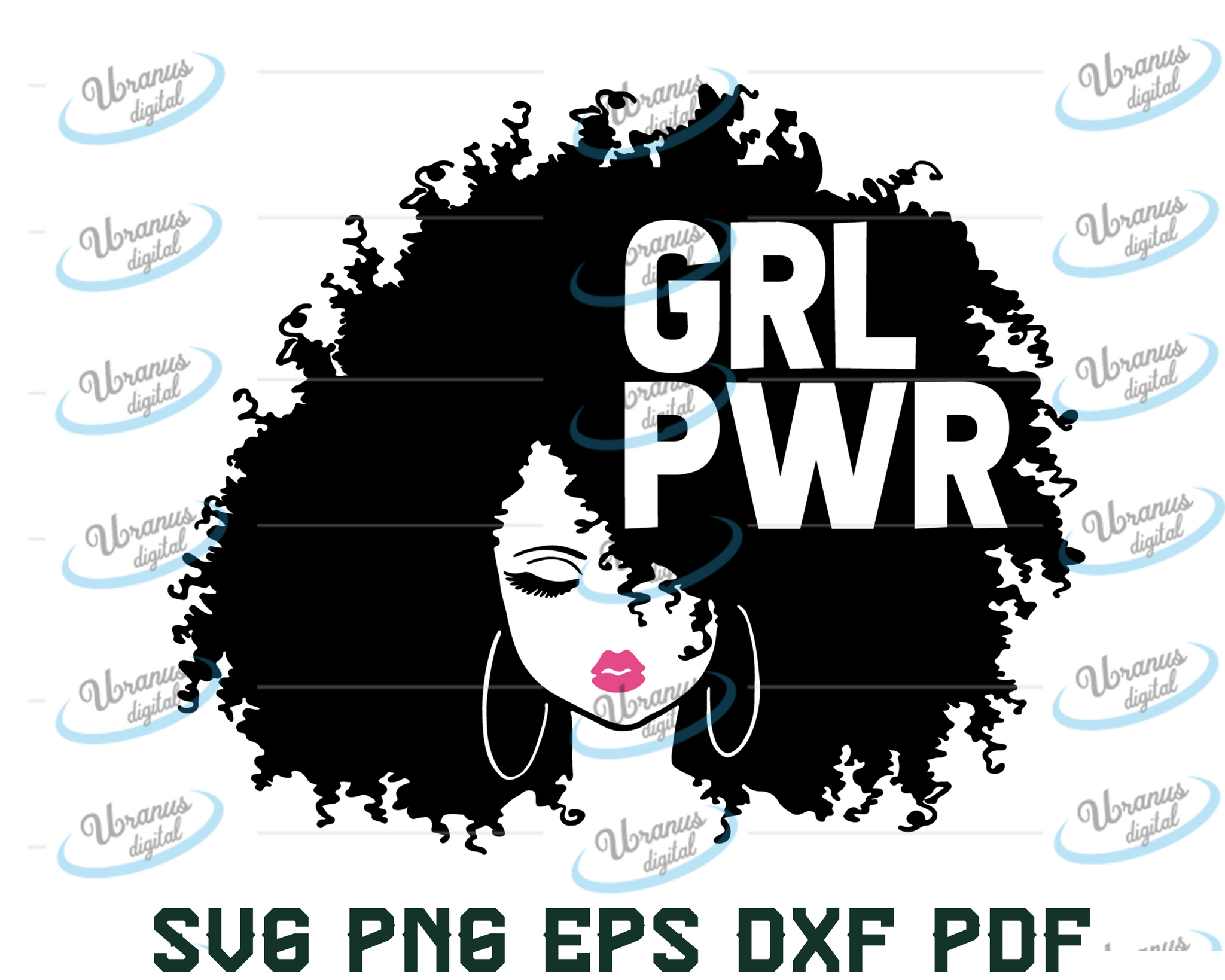 Black queen svg – Crown svg – Black woman svg – Woman clipart – Black girl svg – Afro hair svg – Afro svg – eps, png, dxf pdf svg for cricut