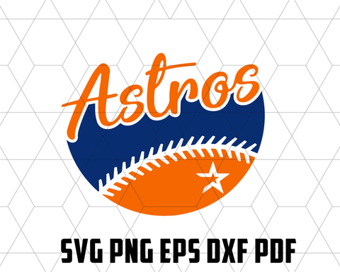 Astros SVG,SVG Files For Silhouette, Files For Cricut, SVG, DXF, EPS, PNG Instant Download