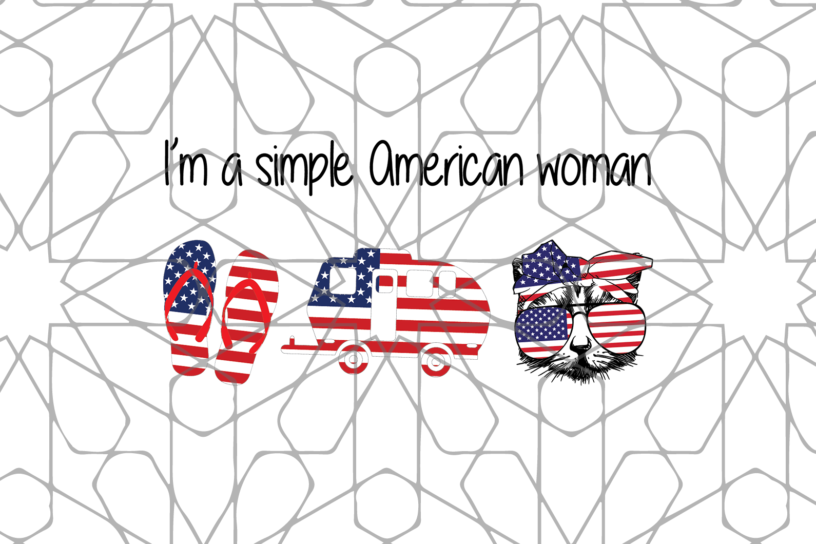 American womanSVG,SVG Files For Silhouette, Files For Cricut, SVG, DXF, EPS, PNG Instant Download