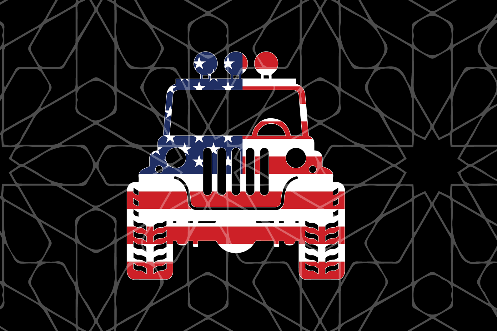 American jeep flag SVG,SVG Files For Silhouette, Files For Cricut, SVG, DXF, EPS, PNG Instant Download