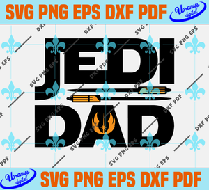 Jedi dad,fathers day svg, fathers day gift, happy fathers day,fathers day 2020,father 2020 gift,funny dad gift,dad present svg,fathers day shirt,funny dad shirt,silhouette svg, cricut svg files, decal and vinyl,