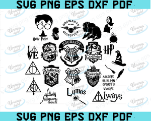 Harry Potter SVG BUNDLE, Harry potter svg, Harry Potter clipart,, Files For Cricut, SVG, DXF, EPS, PNG Instant Download